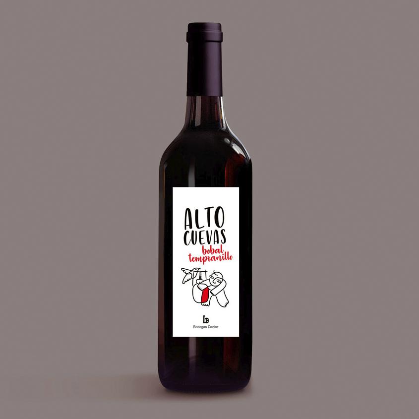 Alto Cuevas packaging vino